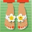 BF511 Foot Petals - Daisies Birds Of A Feather Foot Petal Sandal Kit