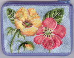 APSZ157 CREDIT CARD  And COIN case Alice Peterson Stitch And Zip Buttercups