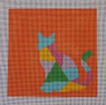 AS-006 Cat Little Bird Designs 13 mesh 8″ x 8″