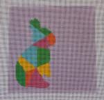 AS-004 Rabbit Little Bird Designs 13 mesh 8″ x 8″