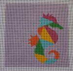 AS-003 Seahorse Little Bird Designs 13 mesh 8″ x 8″