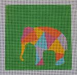 AS-001 Elephant Little Bird Designs  13 mesh 8″ x 8″