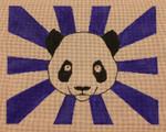 HB-002 Panda Bear with Blue Rays Little Bird Designs Handbagn