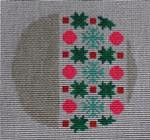 """RO-006 Tealand Pink Silver Little Bird Designs 3.5"""" Round 18 mesh"""
