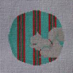 "RO-003 Teal and Pink Squirrel  Little Bird Designs 3.5"" Round 18 mesh"