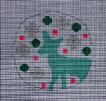 """RO-002 Tealand Pink Deer Little Bird Designs 3.5"""" Round 18 mesh"""