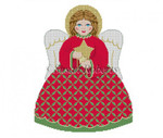 "3399f Tree Topper, Star Angel front 18 Mesh 9"" HighSusan Roberts Needlepoint"