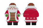 1224 Snowflake Red Jacket Santa, 2 sided 18 Mesh Susan Roberts Needlepoint With  Stitch Guide