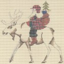 PT-177 Moose Santa Designs by Petei 18 Mesh 9 x 9