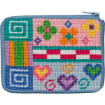 APSZ207 CREDIT CARD & COIN PURSE Alice Peterson Stitch And Zip Patchwork !