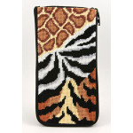 APSZ401 Animal Skins Alice Peterson Stitch And Zip EYEGLASS CASE
