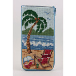 APSZ431 At The Beach Alice Peterson Stitch And Zip EYEGLASS CASE