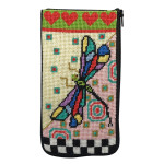 APSZ465 Dragonfly Alice Peterson Stitch And Zip EYEGLASS CASE