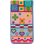 APSZ482 Patchwork Alice Peterson Stitch And Zip EYEGLASS CASE !