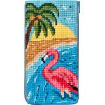 APSZ483 Flamingo Alice Peterson Stitch And Zip EYEGLASS CASE !