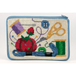 APSZ527 Sewing Alice Peterson Stitch And Zip NEEDLEPOINT PURSE