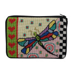 APSZ590 Dragonfly Alice Peterson Stitch And Zip NEEDLEPOINT PURSE