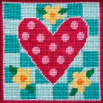 APCANOODLES5014 Polka Dot Heart  Ship Alice Peterson