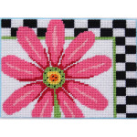 APCANOODLES5033 Pink Daisy and Checks Alice Peterson CANOODLES