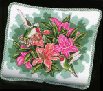 APHOME CREATIONS6202 Hummingbirds and Lilies Alice Peterson HOME CREATIONS