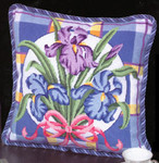 APHOME CREATIONS6191 Iris On Plaid Alice Peterson HOME CREATIONS