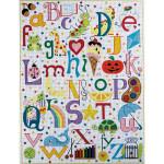 AP3061 Multi Colored Alphabet Alice Peterson 13 Mesh 15 x 20
