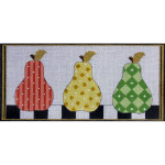 AP2298 Patterned Pears Alice Peterson 13 Mesh 12 X 5 !