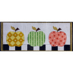 AP2297 Patterned Apples Alice Peterson 13 Mesh 12 X 5 !