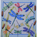 AP1411 Dragonfly Pillow Alice Peterson 13 Mesh 14 x 14 !