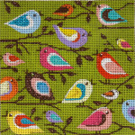 AP2293 Birds Of A Different Color Alice Peterson 13 Mesh 7 X 7 !