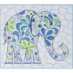 AP2431 Elephant Alice Peterson 13 Mesh 9 x 8 !