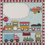 AP3591 Cars Trains and Planes Alice Peterson 13 Mesh 11 x 11 !