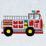 AP3511 Small Fire Truck  Alice Peterson 13 Mesh 6 X 6