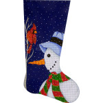AP2311 Snowman Stocking Alice Peterson 13 Mesh 11 x 20 !