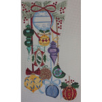 AP1089 Christmas Ornament Stocking Alice Peterson 13 Mesh  11 x 20 !