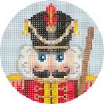 APX189 Nutcracker Soldier Ornament Alice Peterson 13 Mesh 4″ ROUND !