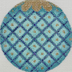 APX101 Blue Diamonds Alice Peterson 13 Mesh 4″ ROUND