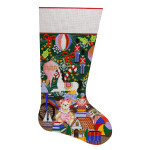 AP2004 Christmas Toys Stocking Alice Peterson 13 Mesh 19 X 11 !