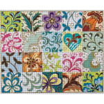 AP2058 Patchwork Collage Alice Peterson 13 Mesh Design Size 15 X 12 !