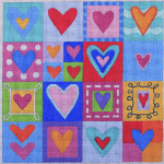 AP1440 Hearts Galore Alice Peterson 13 Mesh 10 x 10 !