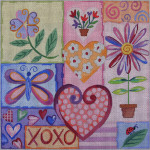 AP1603 Happy Hearts Alice Peterson 13 Mesh 12 X 12 !