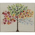 AP2377 Seasonal Tree Alice Peterson 13 Mesh 10 x 8.5 !