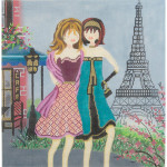AP2554 Girls in Paris Alice Peterson 18 Mesh 9 x 9 !