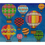 AP2526 Hot Air Balloons in Flight Alice Peterson 13 Mesh 11 x 9.5 !