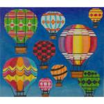 AP2526 Hot Air Balloons in Flight Alice Peterson 13 Mesh 11 x 9.5 !