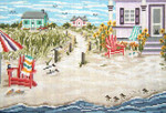 "2140NB Seaside Cottage 18 Mesh - 9"" x 6"" Needle Crossings"