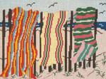 """144-13 Beach Towels 13 Mesh - 11"""" x 8-1/4""""  Needle Crossings"""