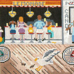 "150 Lemonade Stand 18 Mesh - 5"" Square Needle Crossings"