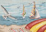"159-13 Seagulls & Sailboats 13 Mesh - 9-1/2"" x 7""Needle Crossings"