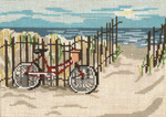 "151 Beachside Bicycle 18 Mesh - 7"" x 5""  Needle Crossings"